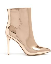 Forever 21 - Faux Patent Metallic Ankle Boots - Lyst