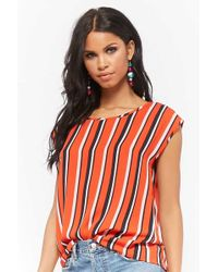 Forever 21 - Multicolor Striped Chiffon Top - Lyst