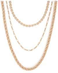 3d355e6bb Forever 21 Faux Stone Longline Necklace in Pink - Lyst