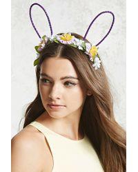 Forever 21 - Floral Bunny Ear Headband - Lyst