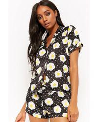 Forever 21 - Egg Print Pajama Shirt & Shorts Set - Lyst