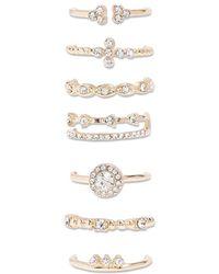 Forever 21 - Assorted Rhinestone Ring Set - Lyst