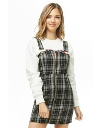 Forever 21 - Plaid Overall Dress - Lyst