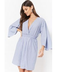 Forever 21 - Pinstriped Kimono Dress - Lyst