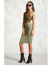 Forever 21 | Stretch-knit Bodycon Skirt | Lyst