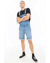 Forever 21 - Denim Overall Shorts - Lyst