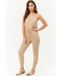 18e35899ff2a Lyst - Forever 21 Plus Size Marled French Terry Jumpsuit in Gray