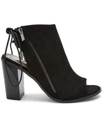 Forever 21 - Shoe Republic Open Toe Lace-back Booties - Lyst