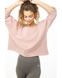58c345fd20bbf1 Forever 21 Plus Size Off-the-shoulder Flounce Top in Pink - Lyst