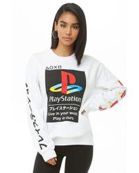 Forever 21 - Playstation Fleece Sweatshirt - Lyst