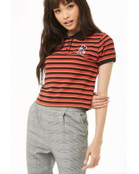 d2ffef4877e Forever 21 Mickey Mouse Mesh Jersey in Red - Lyst