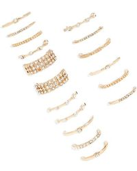 FOREVER21 - Rhinestone Stackable Ring Set - Lyst