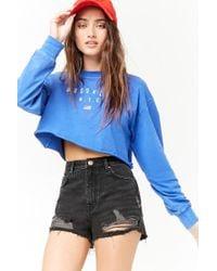 Forever 21 - High-waisted Denim Shorts - Lyst