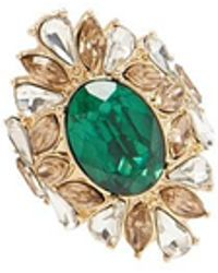 Forever 21 - Women's Faux Gem Cluster Cocktail Ring - Lyst