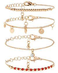 Forever 21 | Assorted Charm Bracelet Set | Lyst