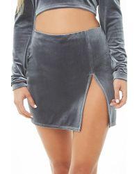 Forever 21 - Velvet Mini Skirt - Lyst