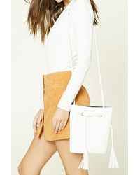 FOREVER21 - Faux Leather Bucket Bag - Lyst