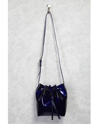 Forever 21 | Faux Patent Leather Bucket Bag | Lyst