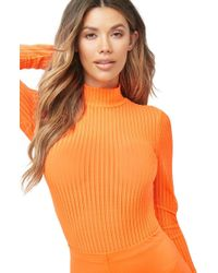 Forever 21 - Neon Shadow-striped Bodysuit - Lyst
