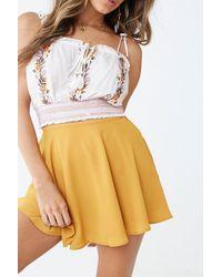 Forever 21 - Mini Skater Skirt , Mustard - Lyst
