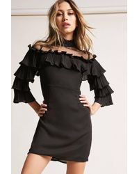 Forever 21 - Pleated Ruffle Dress - Lyst