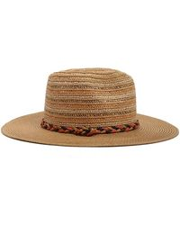 091417261fa6c Violeta by Mango Braided Straw Hat in Black - Lyst