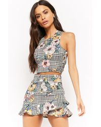 Forever 21 - Houndstooth Crop Top & Skirt Set - Lyst