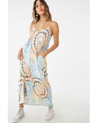 0feffccb56fa Forever 21 - Tie-dye Maxi Dress , Blue/multi - Lyst