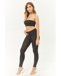 d31875b4bf9e9 Forever 21 - Ribbed Crop Top & Leggings Set - Lyst