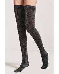 Forever 21 - Metallic Over-the-knee Socks - Lyst