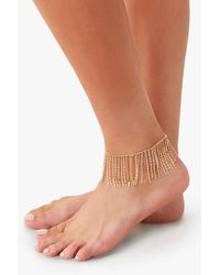 Forever 21 Disc Chain Anklet , Gold - Metallic