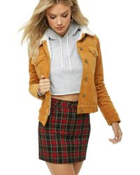 Forever 21 - Faux Shearling Corduroy Jacket - Lyst
