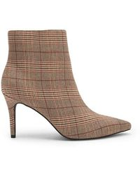 Forever 21 - Plaid Print Pointed Toe Boots - Lyst