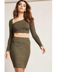 Forever 21 - Marled Stretch Knit Skirt - Lyst