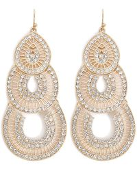 Forever 21 - Women's Tiered Rhinestone Drop Earrings - Lyst