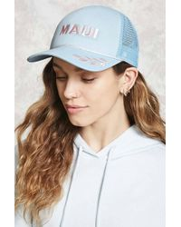 Forever 21 - Maui Embroidered Trucker Hat - Lyst