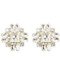 Forever 21 - Faux Gem Stud Earrings - Lyst