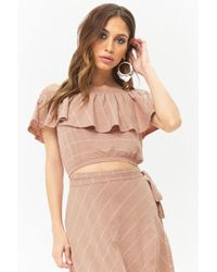 Forever 21 - Anm Off-the-shoulder Flounce Top - Lyst