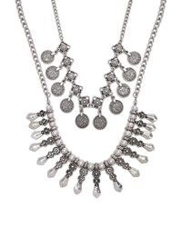 Forever 21 - Burnished Ornate Necklace Set - Lyst