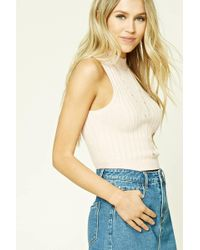 Forever 21 - Ribbed Cropped Knit Top - Lyst