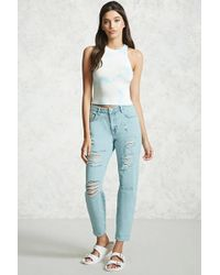 Forever 21 - Distressed Boyfriend Jeans - Lyst