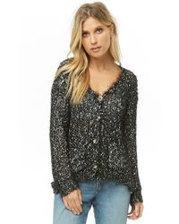b4d9d6c5ff5 Lyst - Forever 21 Classic V-neck Cardigan in Gray