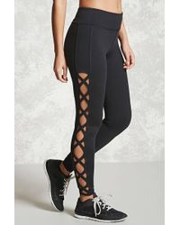 Forever 21 - Active Crisscross Leggings - Lyst