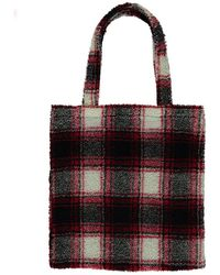 Forever 21 - Faux Shearling Plaid Tote Bag - Lyst