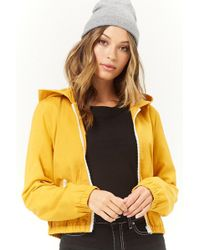 Forever 21 - Hooded Zip-front Jacket - Lyst