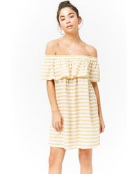 Forever 21 - Striped Flounce Dress - Lyst