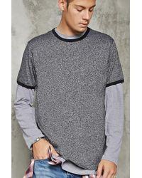 Forever 21 - 's Marled Ringer Tee Shirt - Lyst