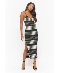 Forever 21 - Striped Cutout Cami Dress - Lyst