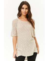Forever 21 - Open-knit Sleeve Top - Lyst