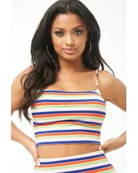 Forever 21 - Striped Cropped Cami - Lyst